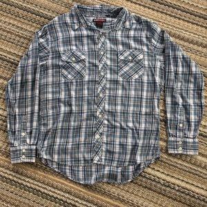 TONY HAWK Button Down Long Sleeve Flannel